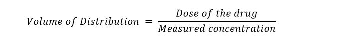 volume of distribution - Vd equation